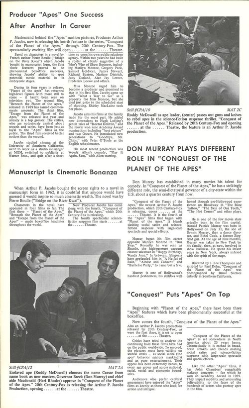conquest of the planet of the apes pressbook