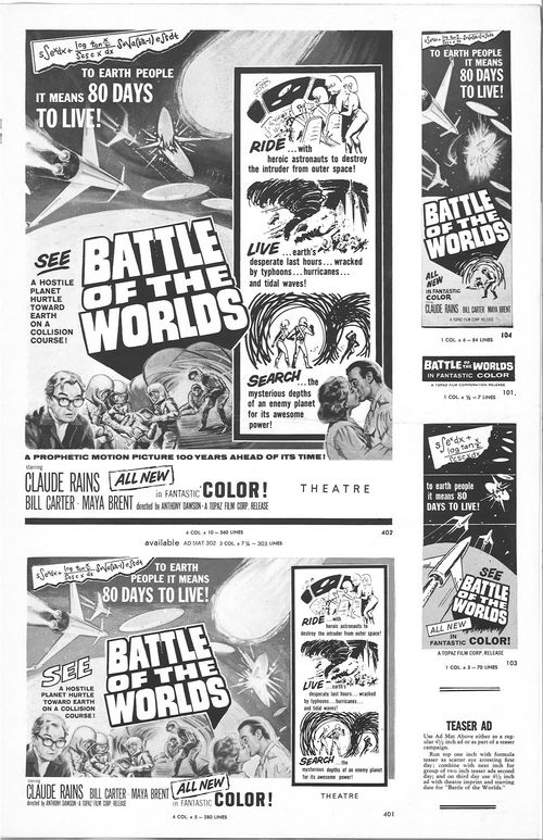 battle of the worlds pressbook
