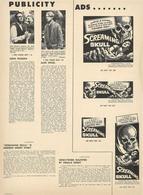 screaming skull pressbook