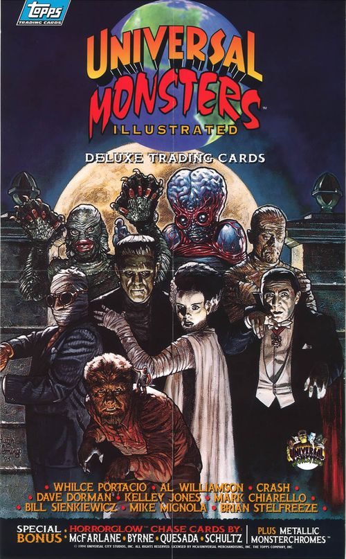 topps universal monsters illustrated box insert poster