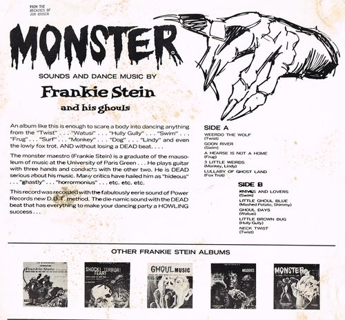 frankie stein and his ghouls monster LP