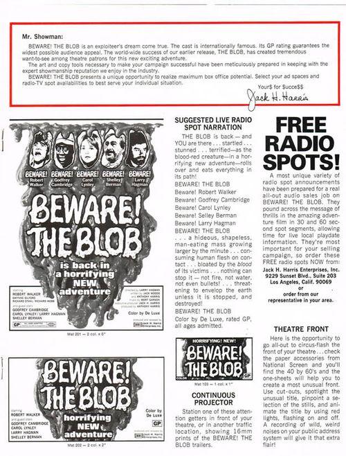 beware the blob pressbook