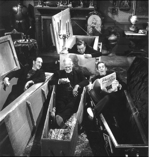 boris karloff, basil rathbone peter lorre vincent price