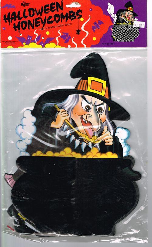 russ halloween cauldron witch