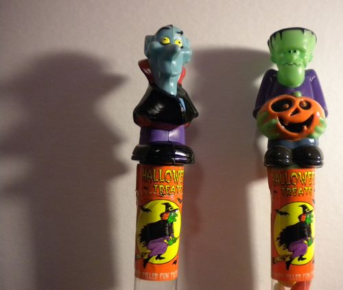 halloween dracula frankenstein candy container