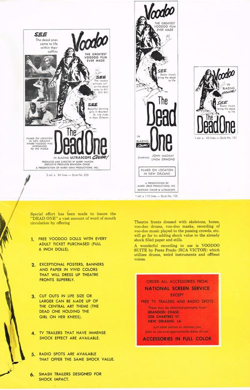 voodoo the dead one pressbook