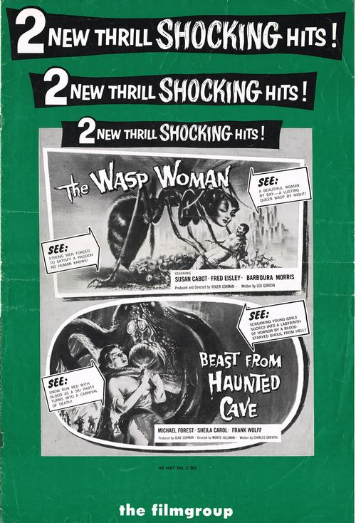 wasp woman beast from haunted cave pressbook