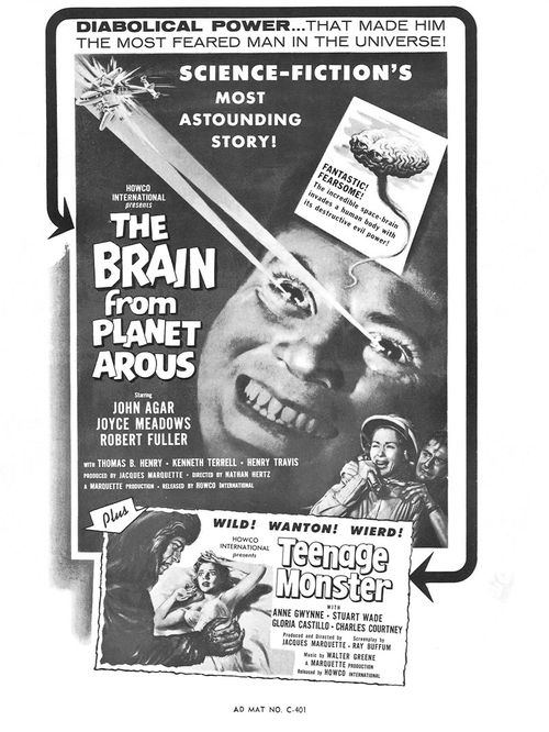 howco brain from planet arous campaign kit pressbook