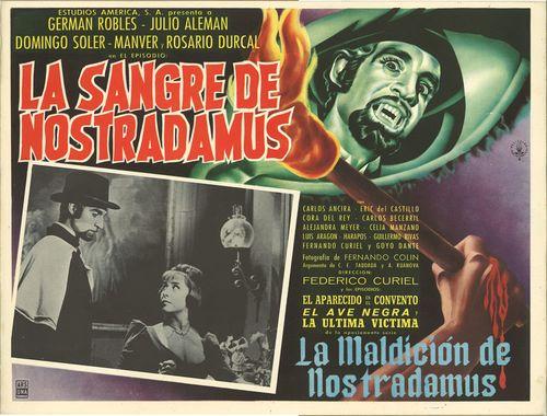 La Sangre De Nostradamus Mexican Lobby Card