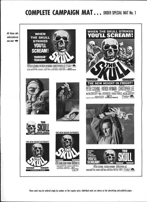 The skull movie pressbook