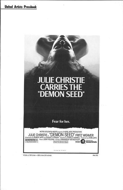 demon seed pressbook