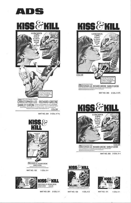 kiss & kill pressbook