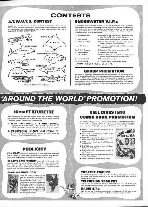 around the world under the sea pressbook