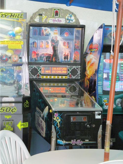 addams family pinball game