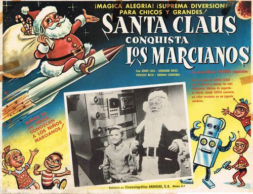 santa claus conquers the martians mexican lobby card