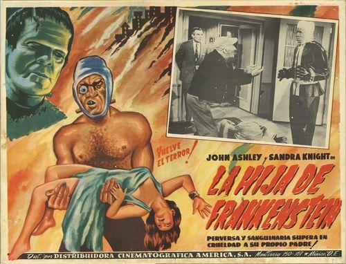 La Hija De Frankenstein Mexican Lobby Card