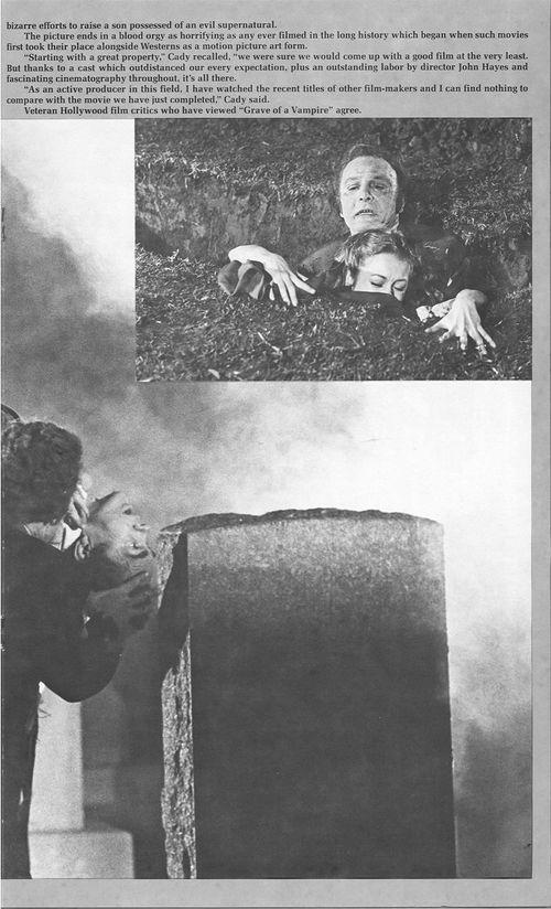 grave of the vampire pressbook