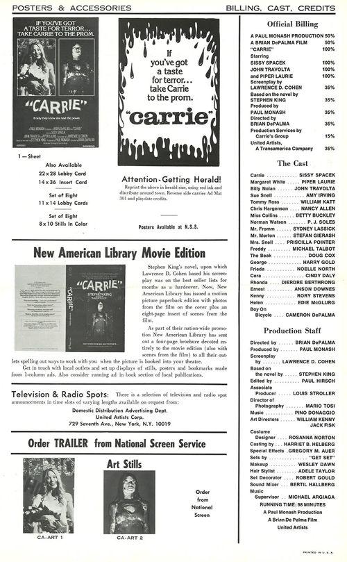 carrie pressbook