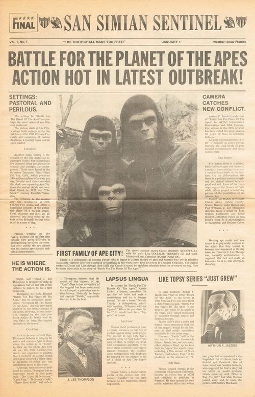 battle for the planet of the apes movie herald