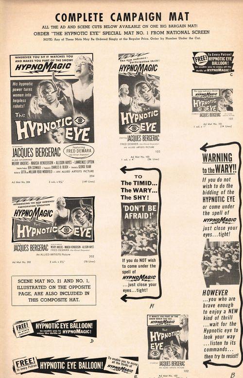 the hypnotic eye pressbook