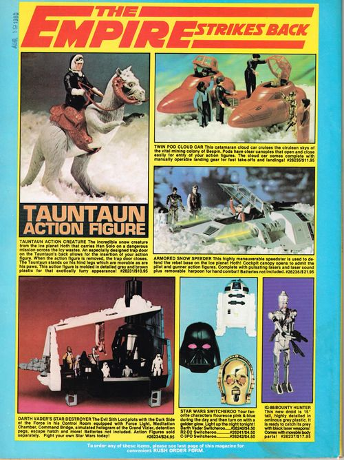 the empire strikes back toy ad