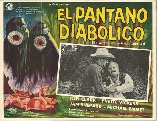 el pantano diabolico mexican lobby card