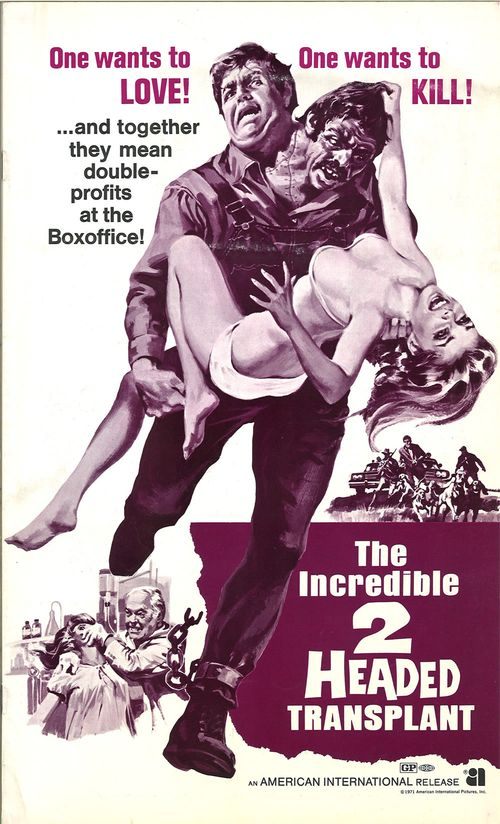 the incredible two headed transplant pressbook