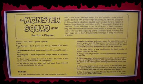 the monster Squad board game