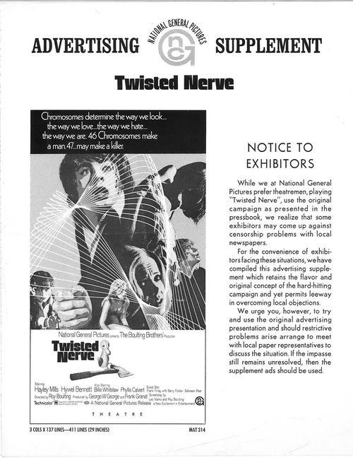 twisted nerve pressbook