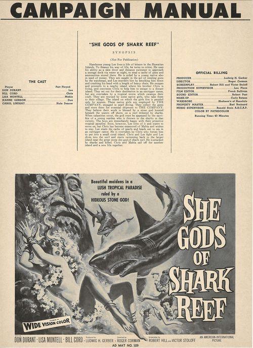 she gods of shark reef pressbook
