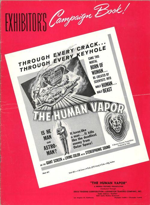 the human vapor pressbook