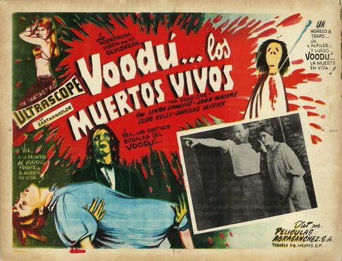 Voodu Los Muertos Vivos Mexican Lobby Card
