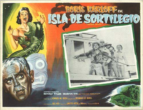 Boris Karloff En Isla De Sortilegio Mexican Lobby Card