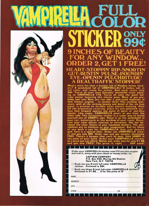 vampirella stickers