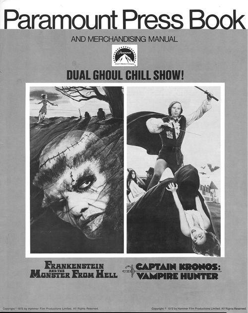frankenstein and monster from hell captain kronos pressbook