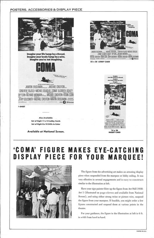 coma movie pressbook