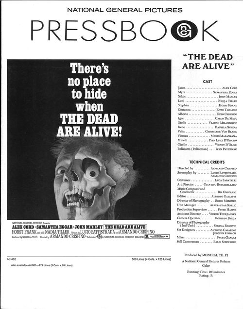 the dead are alive pressbook