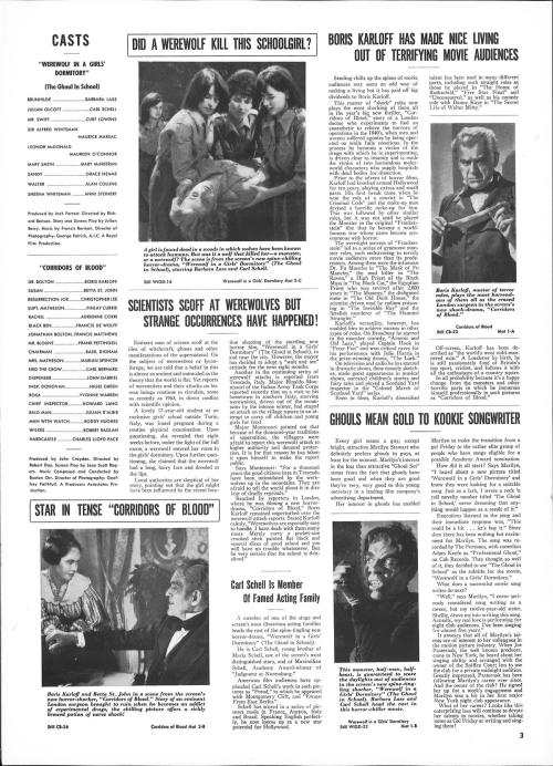 werewolf in a girl's dormitory pressbook