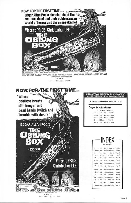 the oblong box pressbook