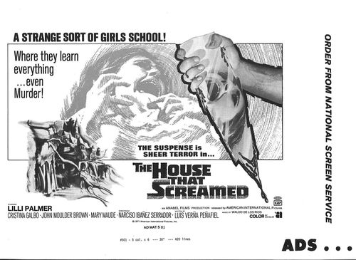 the house that screamed pressbook