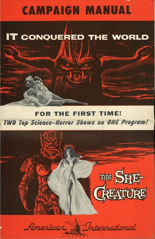 it conquered the world and she creature double bill pressbook