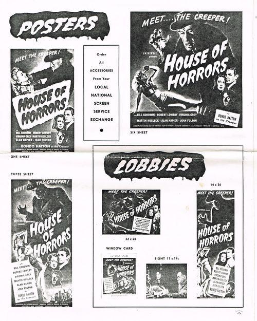 house of horrors pressbook