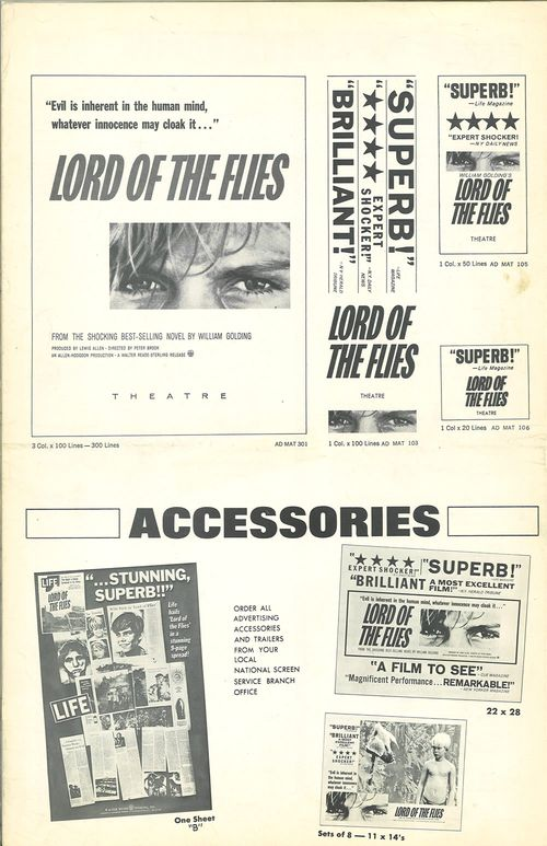 lord of the flies pressbook