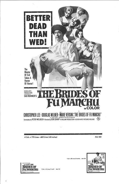 brides of fu manchu pressbook