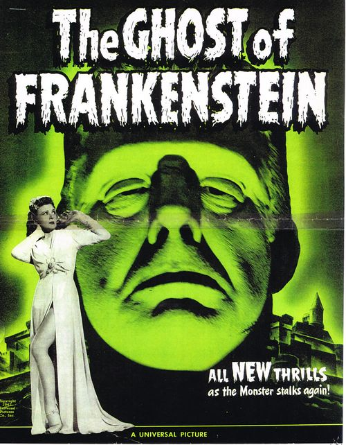 ghost of frankenstein pressbook