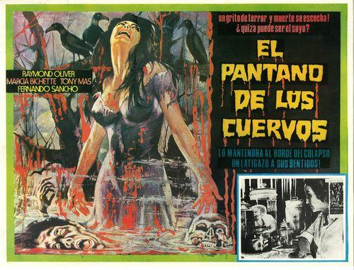 El Pantano De Lus Cuervos mexican lobby card