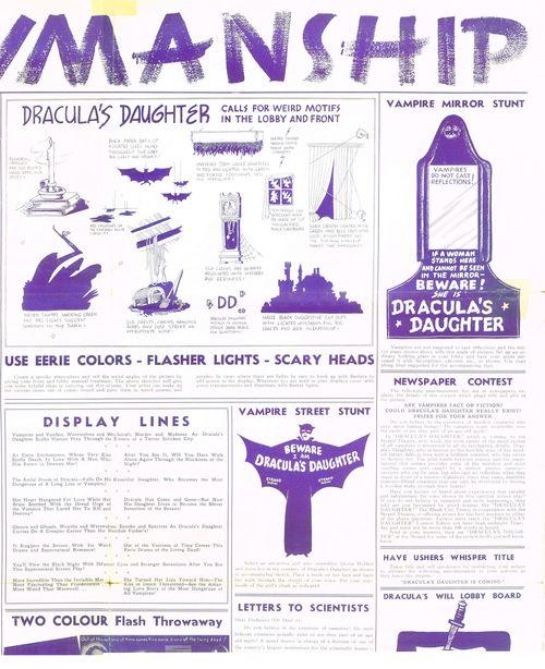 Dracula's Daughter pressbook