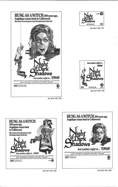night of dark shadows pressbook