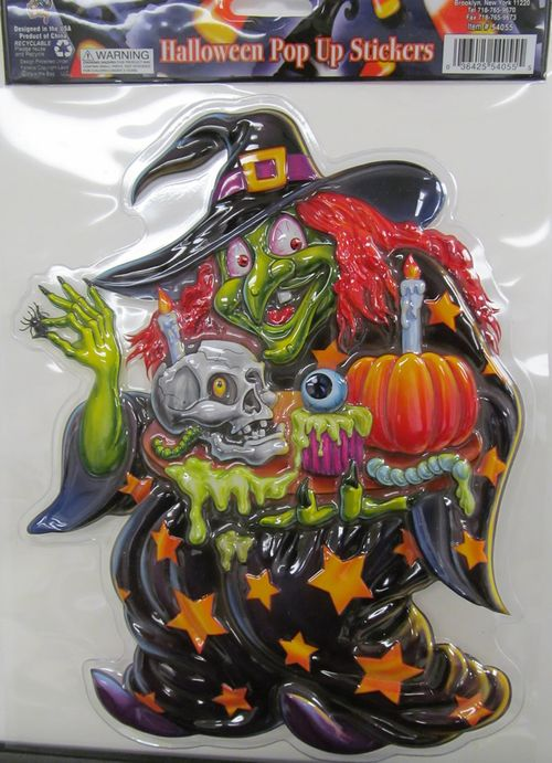 halloween witch pop up sticker