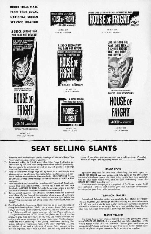house of fright pressbook